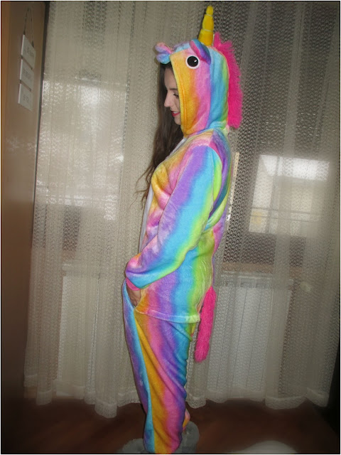 gamiss, online shop, online iskustvo, torba, onesie, bag, fleece, honest, review, panda, unicorn, jednorog, pidžama, colorful, multicolor, rainbow, mekano