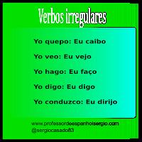 Verbos, Verbos Irregulares Espanhol, Exercícios de verbos, Verbos Espanhol, Espanhol básico, Espanhol para Iniciantes, Espanhol para brasileiros