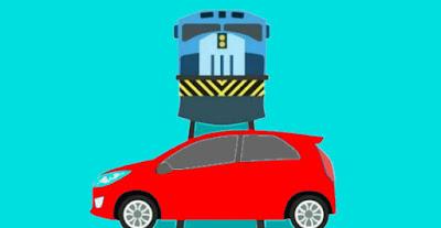 Tips Aman Berkendara Ketika Mobil Melewati Rel Kereta Api