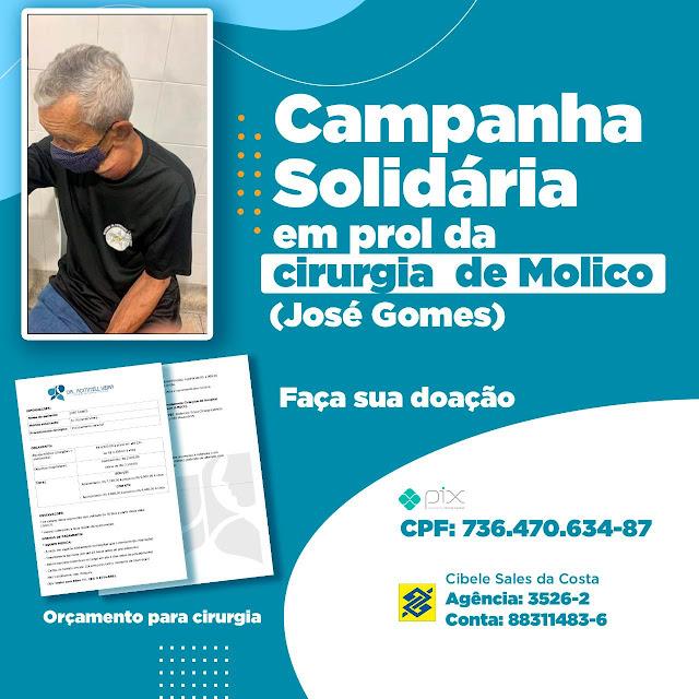 Caraúbas: Campanha Solidária em prol da cirurgia de Molico