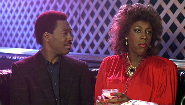 Arsenio Hall femulating in the 1988 film Coming to America.