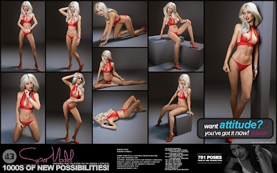 i13 Supermodel Pose Collection for the Genesis 3 Female