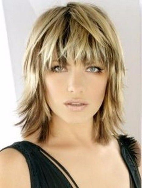 Ideal layered hairstyle
