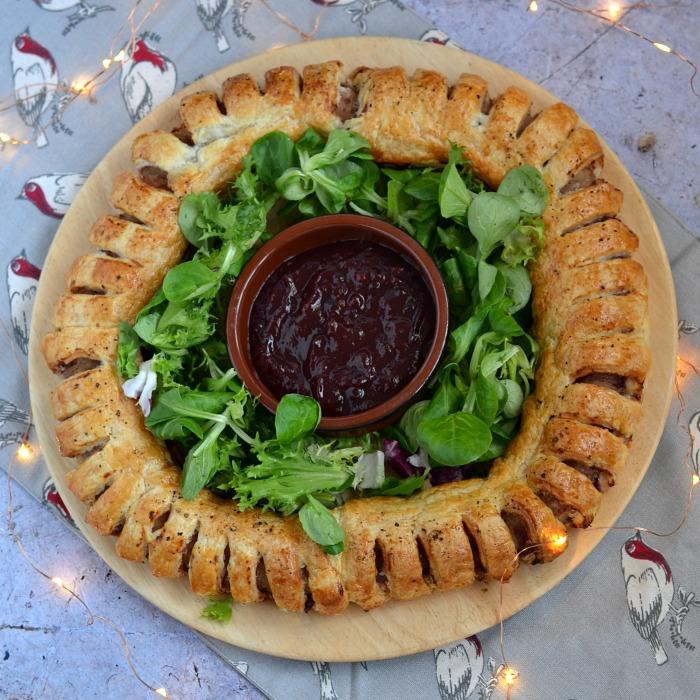 Cranberry Sausage Roll Garland