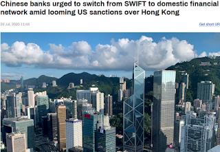 중국, SWIFT 버리고 자국의 CIPS 사용
