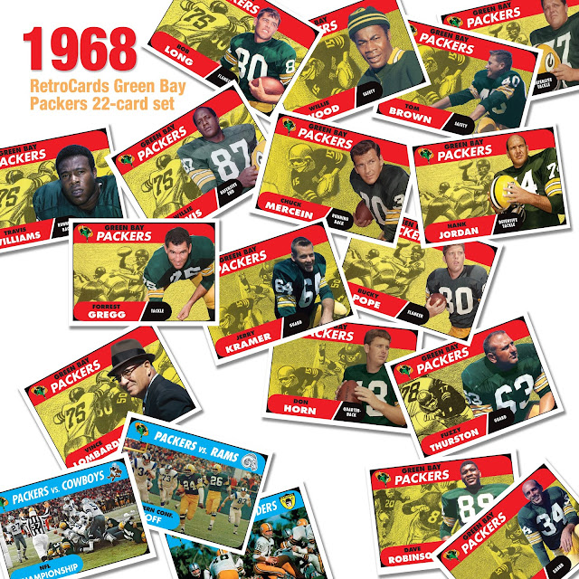 Topps football cards, custom cards that never were Green Bay Packers Super Bowl II
