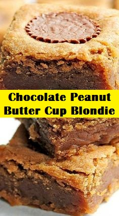 Chocolate Peanut Butter Cup Blondie