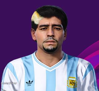 PES 2020 Faces Diego Maradona by Bill221