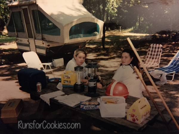 camping when I was a young teen