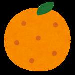 フルーツのマーク(みかん)