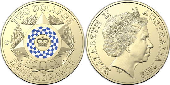 Australia 2 dollars 2019 - National Police Remembrance Day