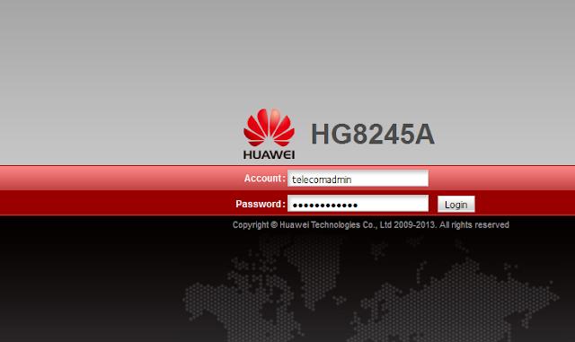 User WiFi IndiHome Dengan Modem Huawei
