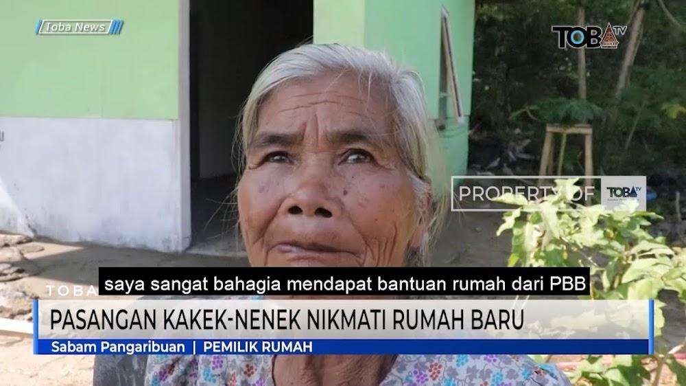 Berkat PBB,Pasangan Kakek Nenek Sudah Nikmati Rumah Baru Layak Huni