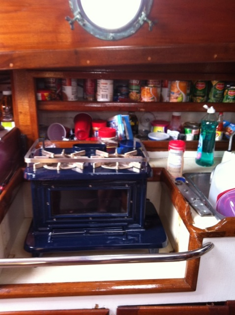 Boat Wood Stove Installed