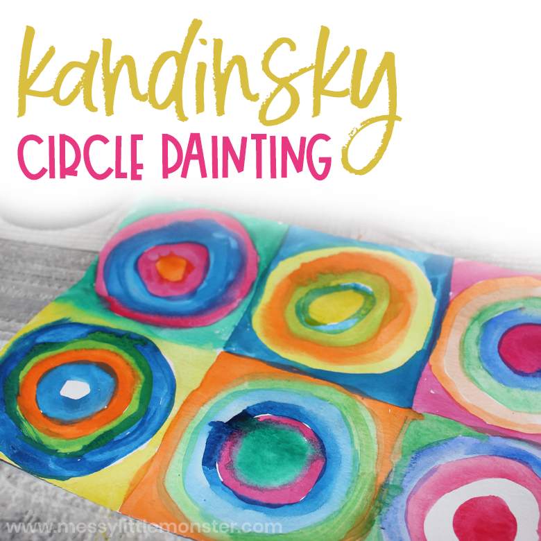 Kandinsky circles painting for kids.