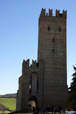 La Rocca Viscontea nella zona alta di Castell'Arquato