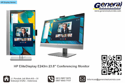 "HP EliteDisplay E243m 23.8"" Conferencing Monitor"
