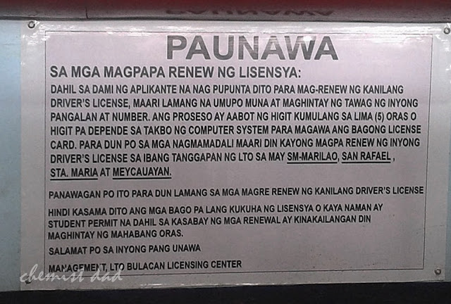 Driver's License renewal, LTO,