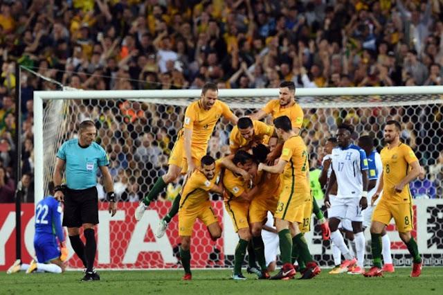 Australia Lolos Piala Dunia 2018