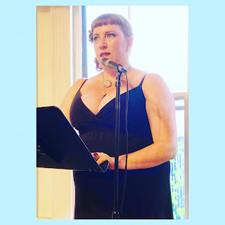 Bridget Eileen reading her poems at the Boston Poetry Marathon 2018