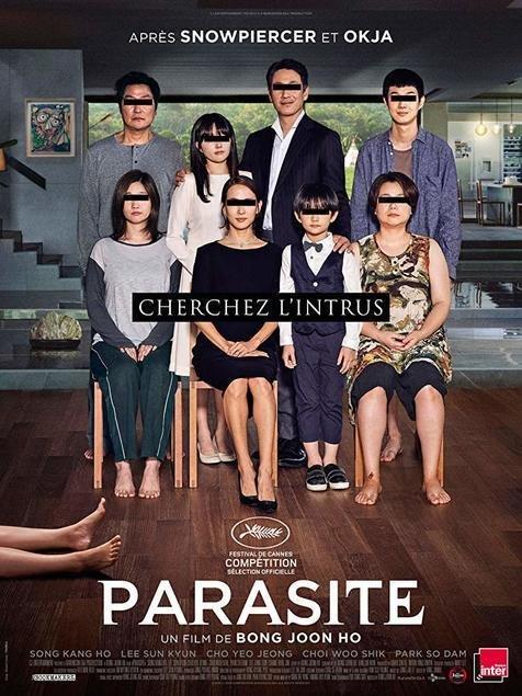 Hasil gambar untuk poster film parasite 2019