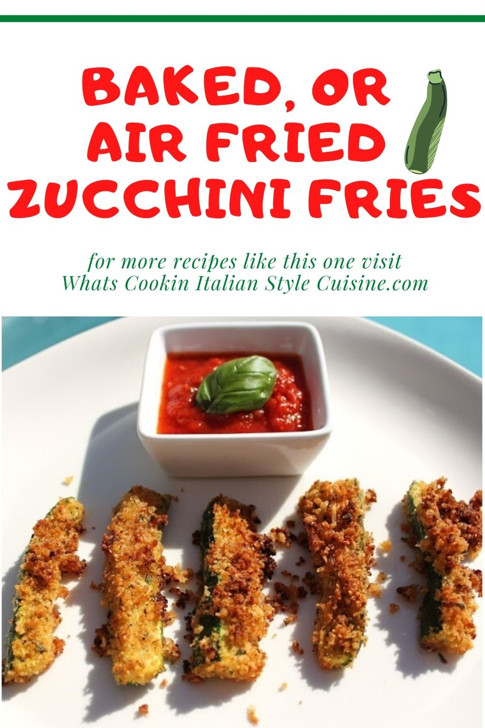 how to make zucchini fries pin for later