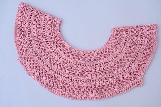 2 - Crochet Imagen Canesú para blusa muy facil y rapido por Majovel Crochet