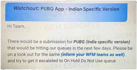 PUBG Mobile India Release major leak by Play Store team