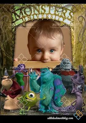 Marco de los Monster Inc.  para fotomontajes infantiles