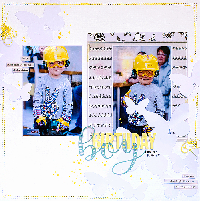 Stephanie Berger - Scrapbooking Layout - Birthday boy