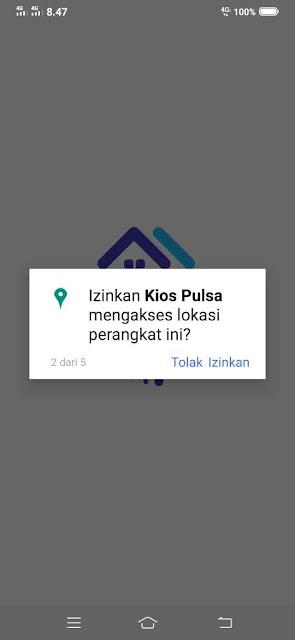 Izinkan Kios Pulsa mengakses lokasi perangkat ini