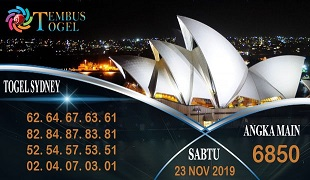 Prediksi Togel Angka Sidney Sabtu 23 November 2019