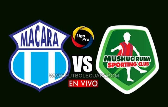 Macará y Mushuc Runa se enfrentan en vivo desde las 16h30 hora local, por la jornada cinco del campeonato ecuatoriano a transmitirse por GolTV Ecuador a efectuarse en el estadio Bellavista de Ambato. Con arbitraje principal de Carlos Orbe.