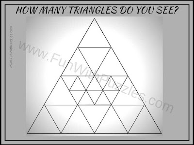Picture Puzzles to count number of triangles