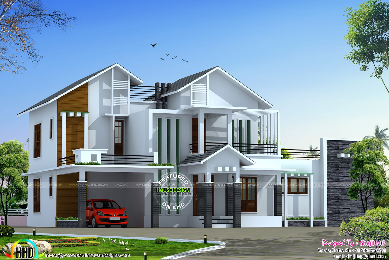 Two Slightly Variant House Elevations Kerala Home Design Bloglovin