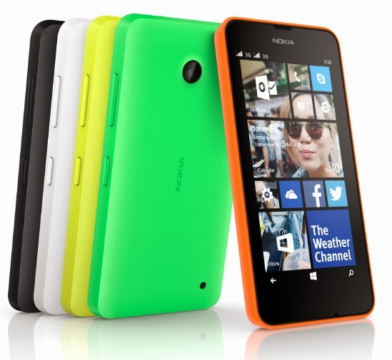 Nokia Lumia 630 photos, colors