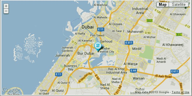Location Map of Grand Cineplex Dubai | UAE Dubai Metro City Streets Hotels Airport Travel Map Info