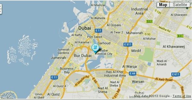 Location Map of Grand Cineplex Dubai UAE Dubai Metro