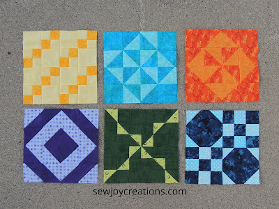6 monthly color challenge blocks patterns by jen