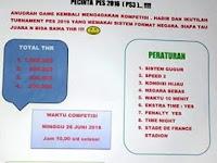 Kompetisi PES 2016 di Samarinda Juni 2016