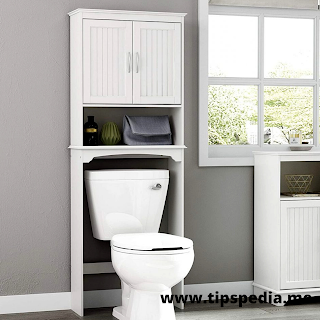 small bathroom over toilet cabinet