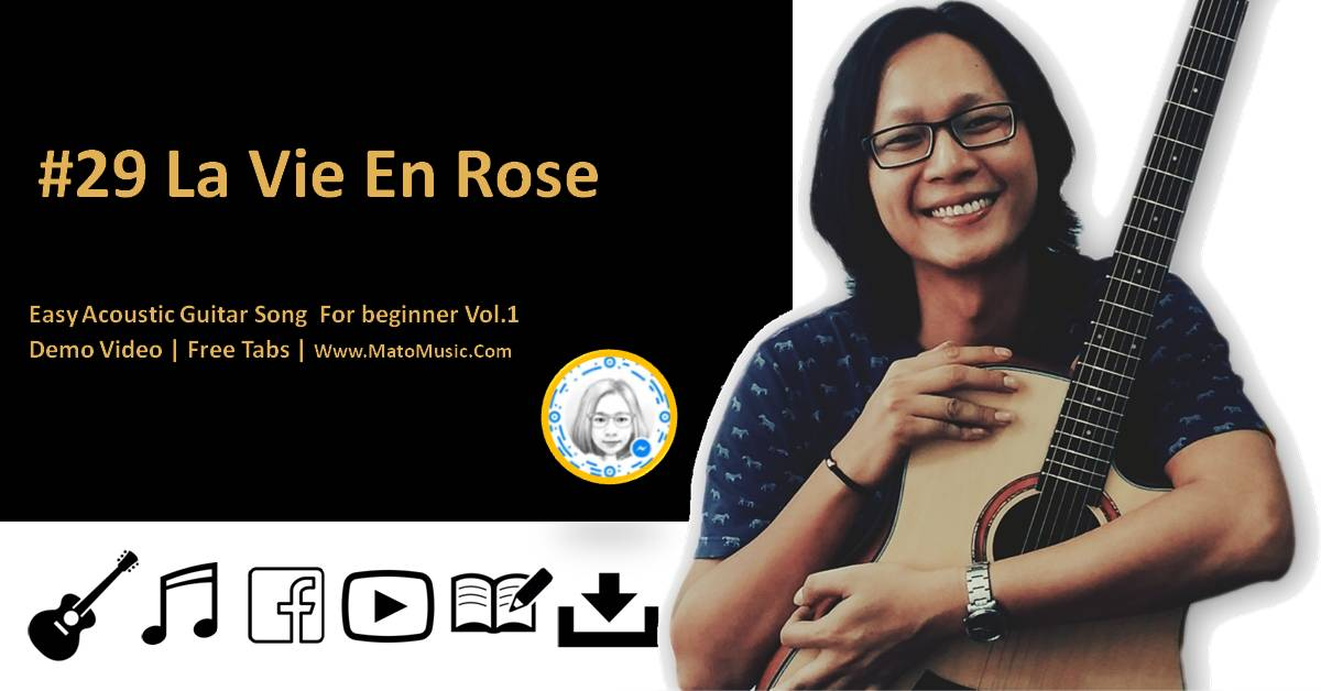 La Vie En Rose Acoustic Guitar Tabs For Beginner | Video | Tabs By Mato Music