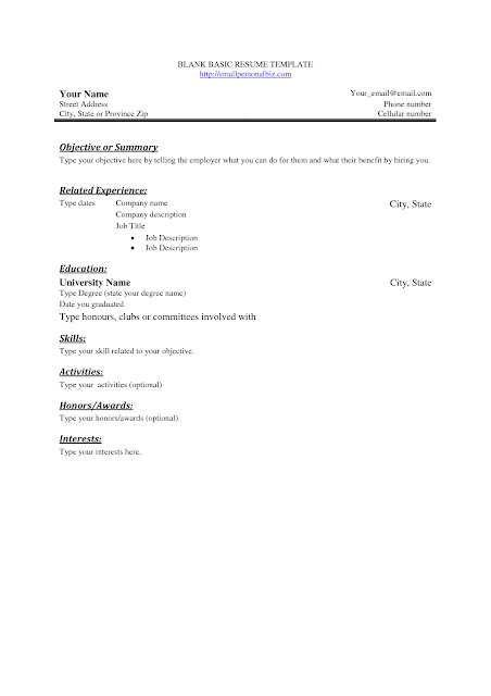 blank resume template word 40 blank resume templates free samples examples format download job resume template - Resume Blank Template