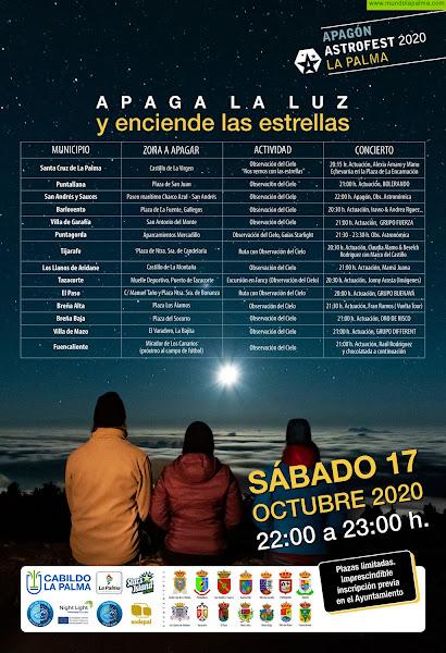 El Cabildo de La Palma organiza una nueva edición de 'Apaga la luz y enciende las estrellas'