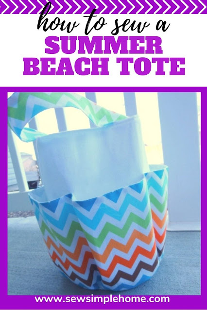 Learn how to make a beach bag with this free sewing tutorial and printable pattern.
