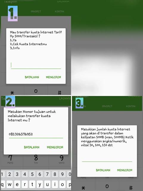 Langkah 1 Transfer Kuota Telkomsel
