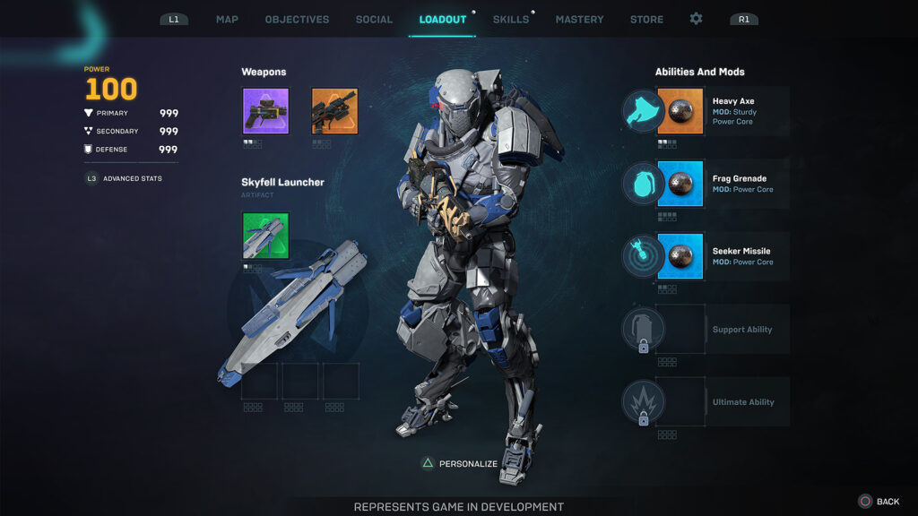 Anthem - Developers showed a new game interface