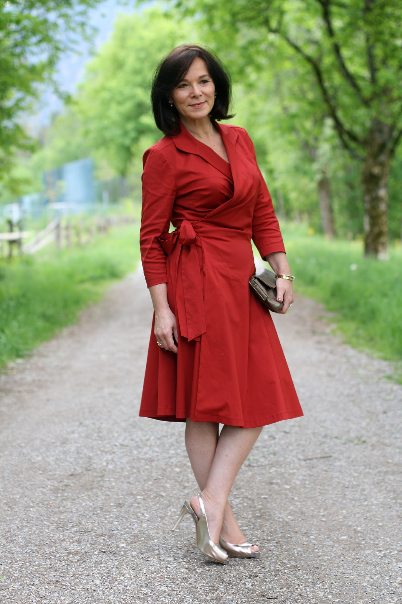 Annette, Lady of Style wearing Winser London