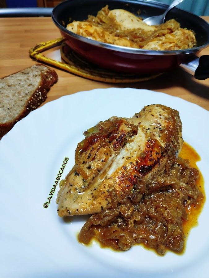 pollo miel y mostaza