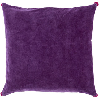 Velvet cotton pillow